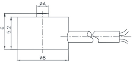 微型壓力傳感器CAZF-Y8尺寸圖