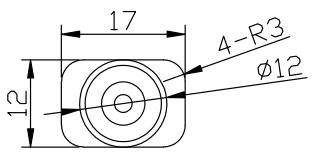 微型壓力傳感器CAZF-Y12尺寸圖