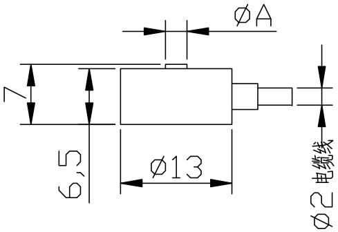 微型壓力傳感器CAZF-Y13尺寸圖