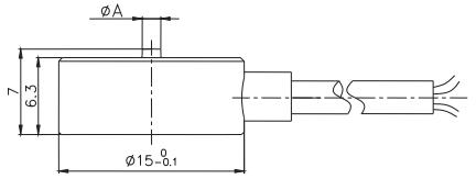 微型压力传感器CAZF-Y15尺寸图